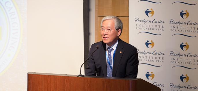 GSW대학 로잘린카터연구소 30주년 기념 서미트에서 교육분과 기조연설을 한 김진성 총장