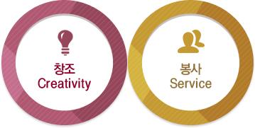 창조 Creativity / 봉사 Service