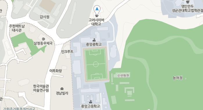 고려사이버대학교 지도